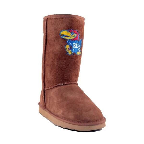 Gameday Boots Womens U Of Kansas Jayhawks Roadie Hickory KS-RL1007-1