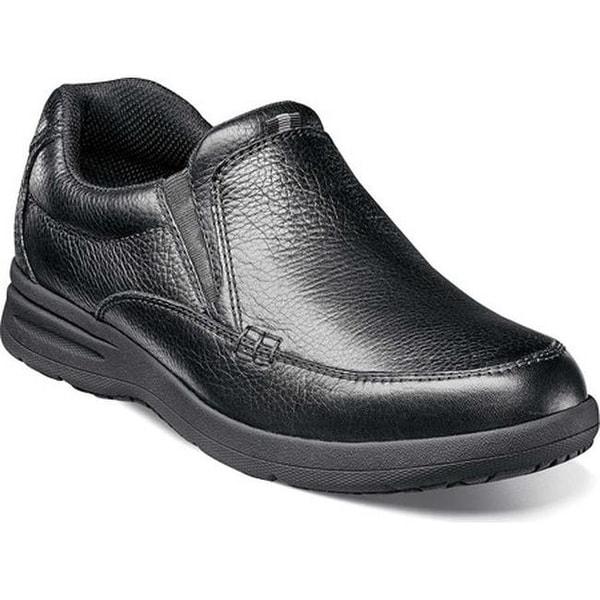 Shop Nunn Bush Men S Cam Moc Toe Slip On Black Tumbled
