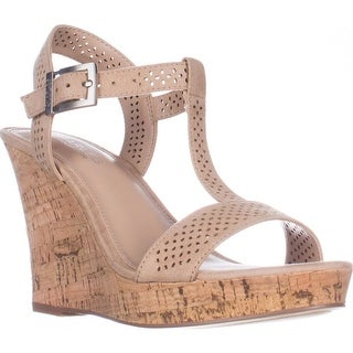 Charles Charles David Law Platform Wedge Sandals, Nude
