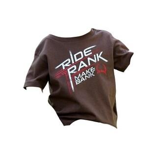 Cinch Western Shirt Boys Short Sleeve Graphic Logo Brown MTT7671029