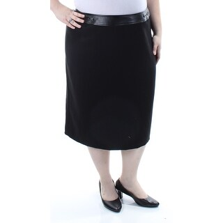 Womens Black Casual Skirt Size 22W