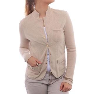 Leggiadro Long Sleeve Cardigan Women Regular Sweater