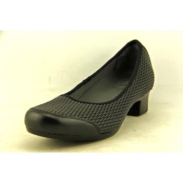 FootSmart Gina Women Round Toe Canvas Black Heels