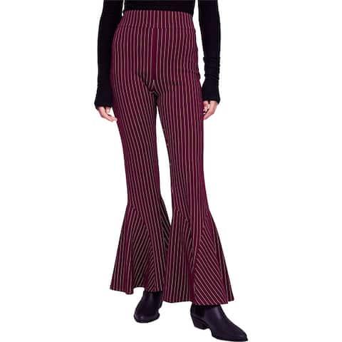 Free People Womens Mari Ponte Flared Casual Trouser Pants
