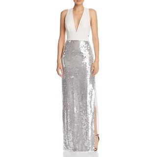 Link to Aidan by Aidan Mattox Womens Formal Dress Sequined Sleeveless - Crystal Similar Items in Dresses