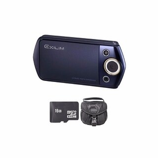 Casio Exilim EX-TR15 Blue Digital Camera 16GB Bundle