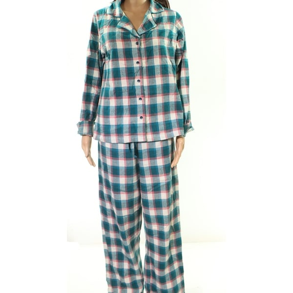Shop Blush Blue Multi Women s Size Medium M Plaid Pajama Pant Sets - Free  Shipping On Orders Over  45 - Overstock - 27811587 5f49f8772