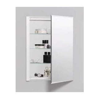 "Robern RC2026D4FB1 R3 20"" x 26"" x 4"" Beveled Single Door Medicine Cabinet with R"