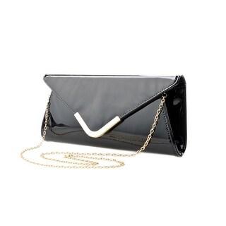 Cicel Girl Ladies Fashion Pu Leather Evening Bag Metal Chain Shoulder Handbag