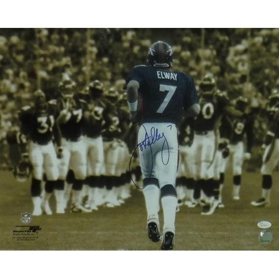 John Elway Autographed Denver Broncos 16x20 Photo Sephia JSA
