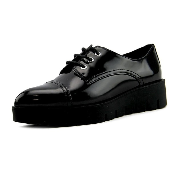 Sixtyseven 76577 Women Smart Black Oxfords