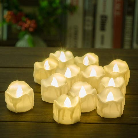 Decorative Flameless Candles Flickering Tea Light - Medium