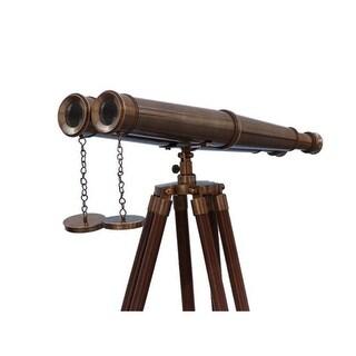 62 in. Floor Standing Admirals Antique Brass Binoculars