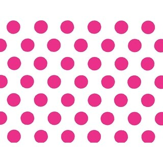 "Pack Of 120, Raspberry Polka Dots Tissue Paper 20"" X 30"" Half Ream Tissue Prints For Packaging Made In Usa 100% Recycled"