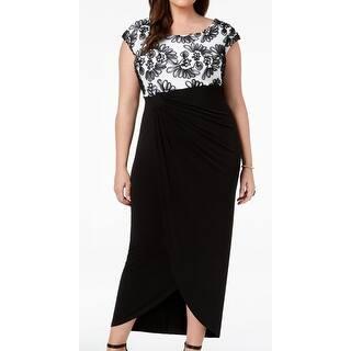 7a3d9de365a30 Connected Apparel Black Womens Size 20W Plus Chiffon Sheath Dress. SALE.  Quick View