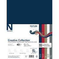 "5 Colors/8 Each - Neenah Textures Cardstock 8.5""X11"" 40/Pkg"