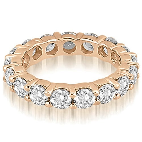4.25 cttw. 14K Rose Gold Round Shared Prong Diamond Eternity Ring
