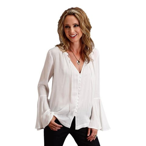 Stetson Western Shirt Womens Long Sleeve White