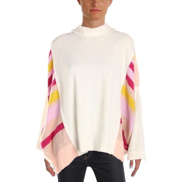 Free People Womens Sweatshirt Textured Striped S