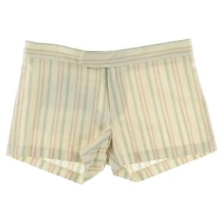 Catherine Malandrino Womens Twill Striped Casual Shorts - 4