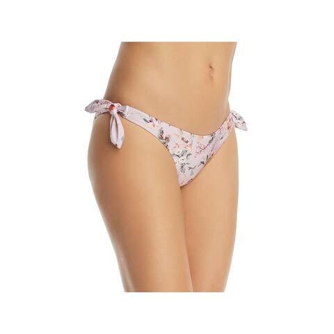 Minkpink Womens Stretch Floral Print Swim Bottom Separates