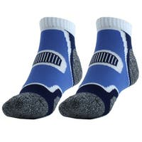 Workout Casual Quarter Athletic Stockings Low Cut Sport Ankle Socks Blue Pair
