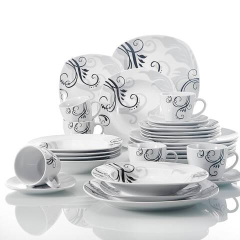 VEWEET 'Zoey' Decal Pattern Dinnerware Set (Serves 6)