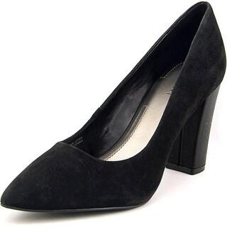 Tahari 115288 Ava Pump Women Peep-Toe Suede Heels
