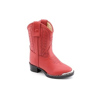 Durango BT755 Toddler Round Toe Synthetic Red Western Boot