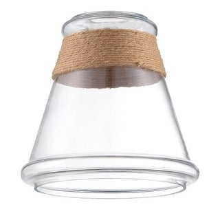 """Jeremiah Lighting N550 7.75"""" x 7.5"""" Tapered Glass Pendant Shade with Rope Accent"""