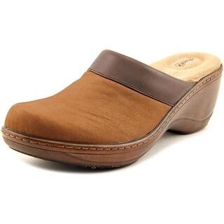 Softwalk Murietta Women N/S Round Toe Leather Brown Clogs