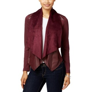 Kut From The Kloth Womens Ana Open-Front Blazer Faux Leather Casual