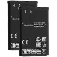 Replacement LG LGIP-531A Battery For GB110 / GB125 / GM205 Phone Models (2 Pack)