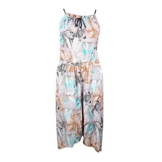 Two by Vince Camuto Women's 'Zebra Fresco' Print Halter Wrap Dress - xL