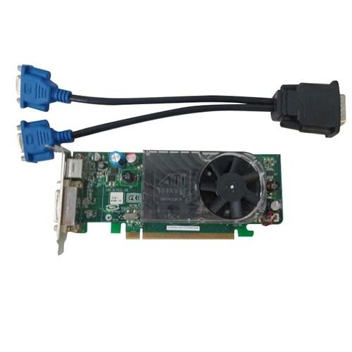 Low Profile DELL Radeon HD2400 Windows 7 Dual Monitor SFF PCIe X16 Video Card