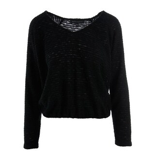 Sanctuary Womens Knit V-Neck Pullover Sweater