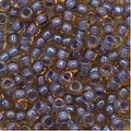 Toho Round Seed Beads 8/0 926 'Lt Topaz/Opaque Lavender Lined' 8 Gram Tube - Thumbnail 0