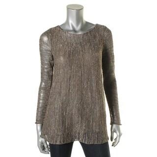 Lafayette 148 Womens Sweater Metallic Heathered
