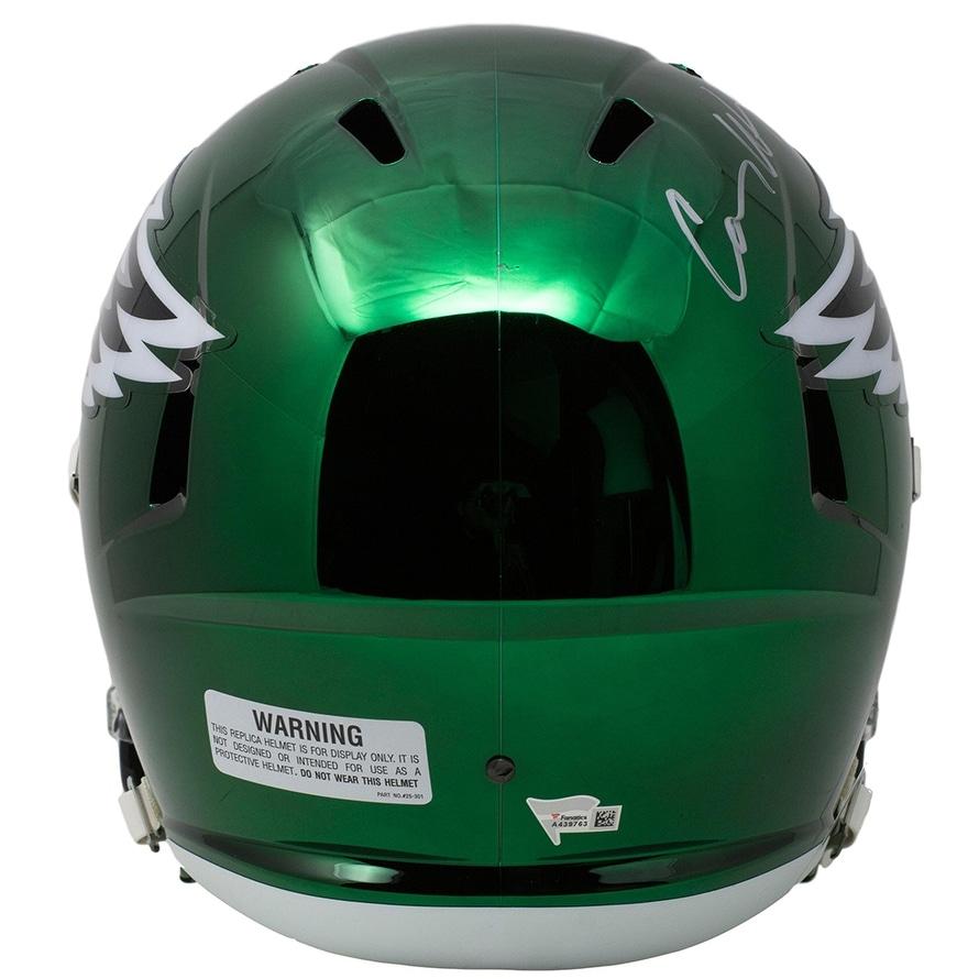 d3701ec00e8 Shop Carson Wentz Signed Eagles Full Size Speed CHROME Replica Helmet  Fanatics - Free Shipping Today - Overstock - 25677144