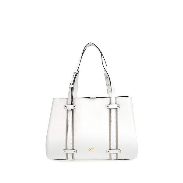 f08faab875a40 Shop MICHAEL Michael Kors Griffin Large Pebble Leather Tote White ...