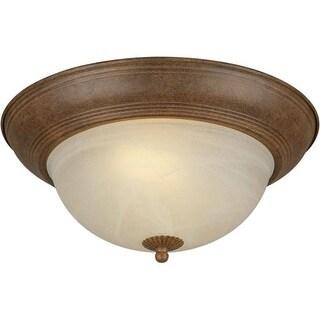 Forte Lighting 20008-02 Energy Efficient Fluorescent 14Wx6H Indoor Flushmount Ceiling Fixture