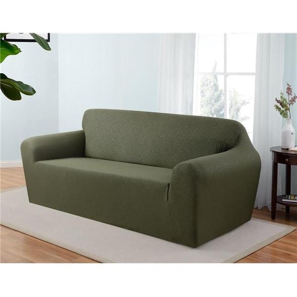 Madison ING-SO-FO Kathy Ireland Ingenue Sofa Slipcover, Forest