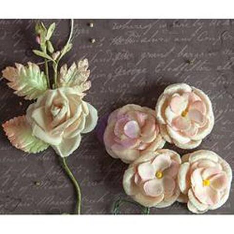 "Sweet Violets Festoon Bouquets Relics & Artifacts Fabric Flowers 4""X5.25"" 2/Pkg"