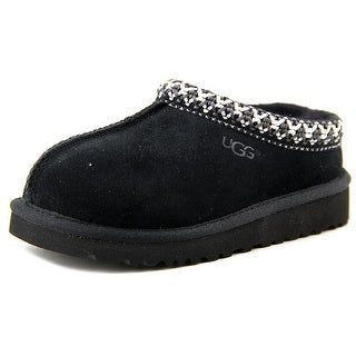 Ugg Australia Tasman Youth Round Toe Suede Black Slipper