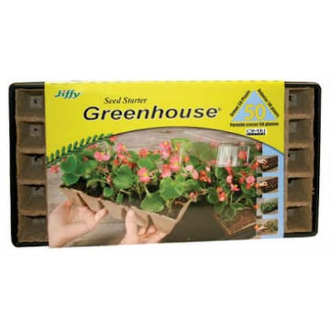Jiffy 5029 Seed Starter Greenhouse, 50-Plant
