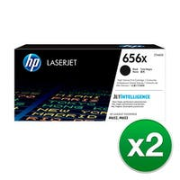 HP 656X Original LaserJet Toner Cartridge - Black (2-Pack) Toner Cartridge