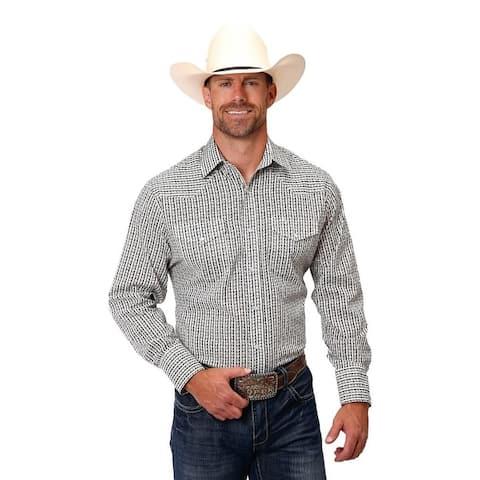 Roper Western Shirt Mens L/S Floral Snap Black