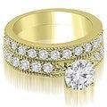 2.45 cttw. 14K Yellow Gold Antique Milgrain Round Diamond Bridal Set - Thumbnail 0