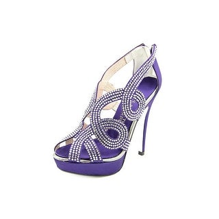 E! Live From The Red Carpet Monique Open Toe Canvas Platform Heel