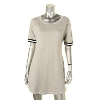 Splendid Womens T-Shirt Dress Heathered Contrast Trim